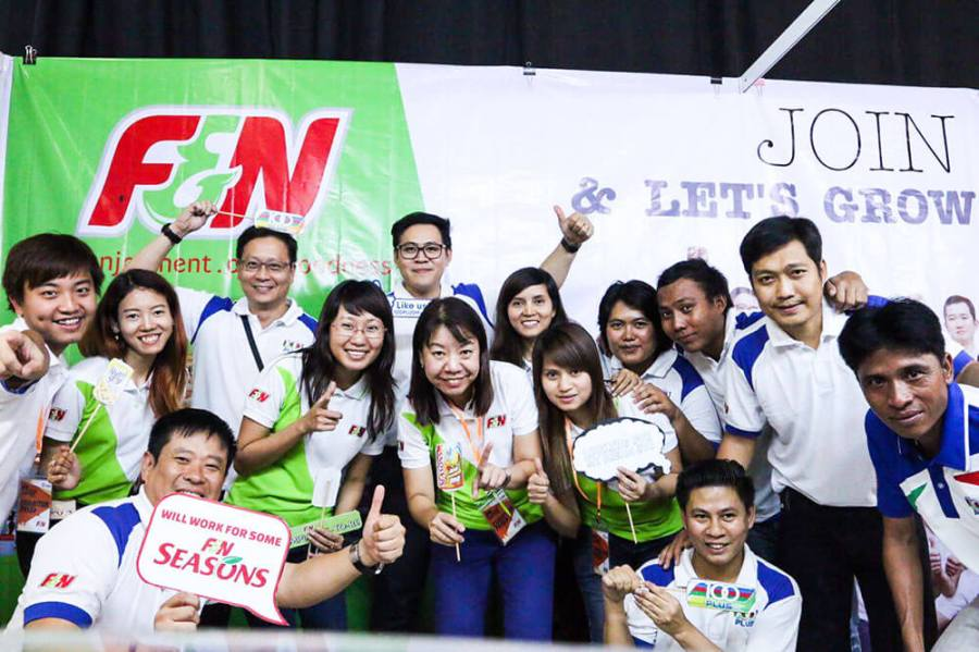 The F&N Team at the Yangon Job Fair 2016