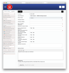 New Employee Account Request Forms