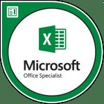 MOS Excel badge