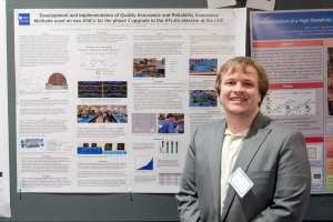 Researcher James Thomas at SMU Research Day