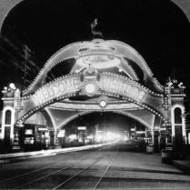 Elks Arch at Night