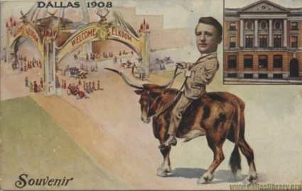 Commemorative Elks Arch postcard, 1908