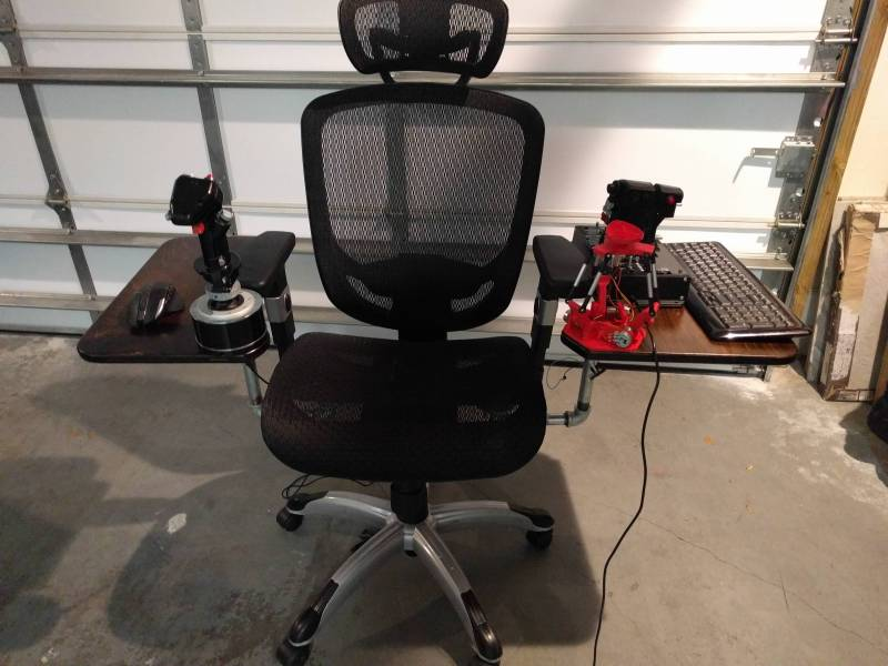 tl;dr - finished chair-mounted desk for joystick mount.