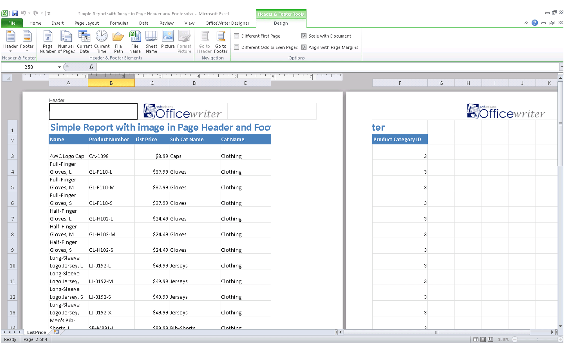 Comparing Excel Export Functionality In Ssrs To Officewriter