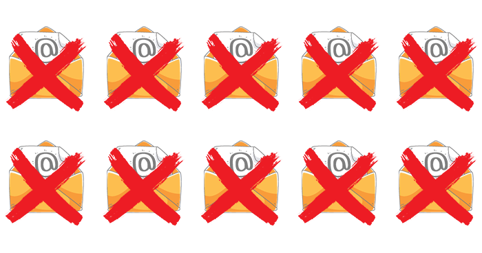 e-mails rejeitados
