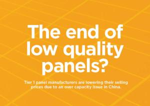 Is this the end of low quality solar panels in Australia?