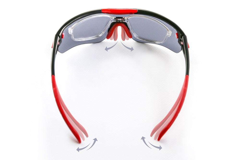 Regulacja nosków i zausznikach w okularach Solano Sport