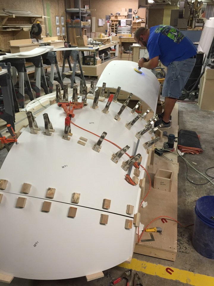 ASST joins the Corian® to the understructure (Fig. 2)
