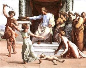 re Salomone e le due madri