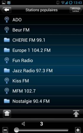 Les radios Web sont correctement triées