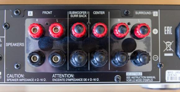 Pioneer VSX-S510 bornier