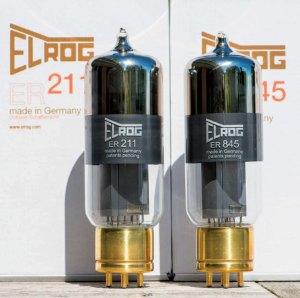 Elrog (site internet www.elrog.com) est une firme allemande qui fabrique en petite série différentes triodes de puissance, notamment la 211, la 845 et la plus récente 300B, assortie d'un bulbe atypique.