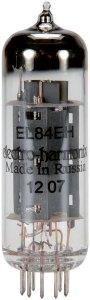 La pentode EL84 offre pour grand mérite d'avoir été conçue à l'origine par Philips pour une application audio. Elle peut faire merveille sur des petits montages amplificateurs utilisés en pentode comme en pseudo triode. La version EL84 EH est un excellent choix, de même que celle proposée par la firme JJ.