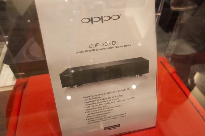 Festival Son&Image lecteur Blu-ray 4k Oppo UDP-203 EU fiche technique