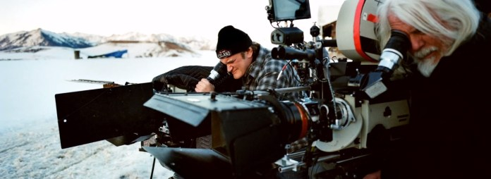 Quentin Tarantino sur le tournage de The Hateful Eight