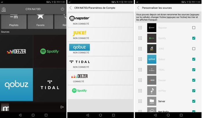 App Android Yamaha MusicCast Bluetooth