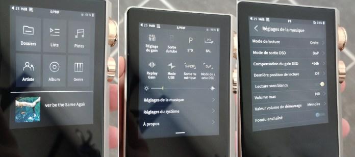L'interface du Cayin N8