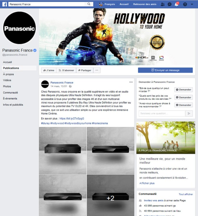 Panasonic - Post Facebook