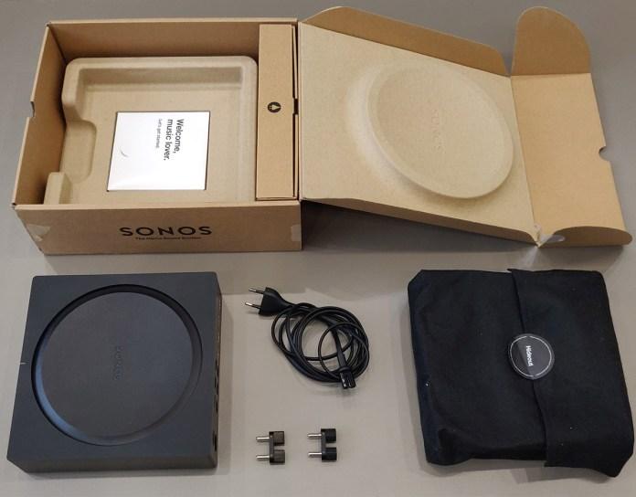 Sonos Amp : packaging et accessoires