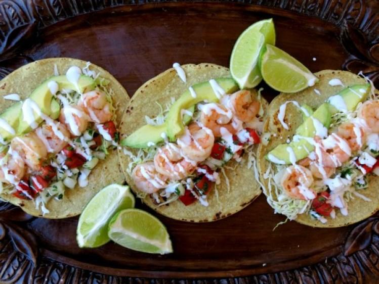 Habanero Butter Shrimp Tacos