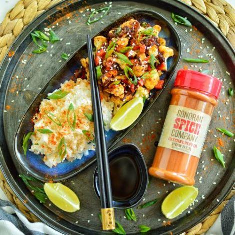 Cauliflower Stir Fry   Sonoran Spice Cayenne Pepper Powder