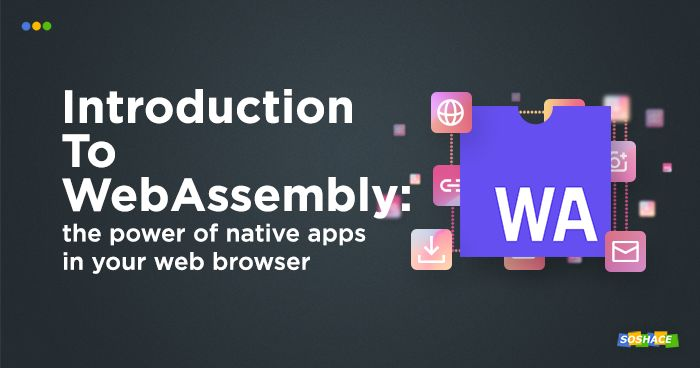 artwork depicting WebAssembly logo and various web elements around it