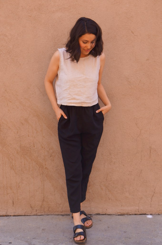 Crop top and trousers