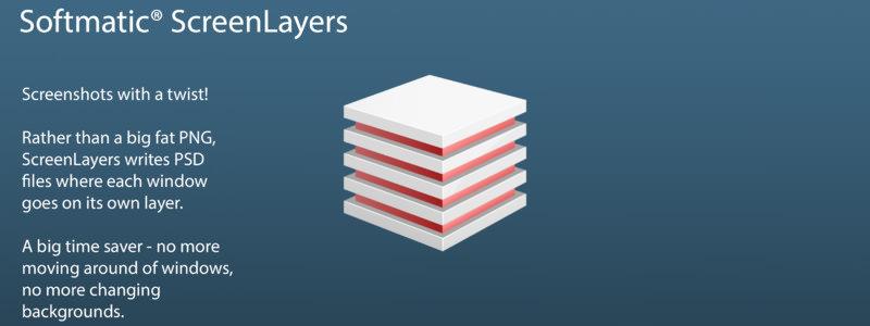 レイヤー構造を持ってデスクトップのスクショが撮れるScreenLayers【Mac】