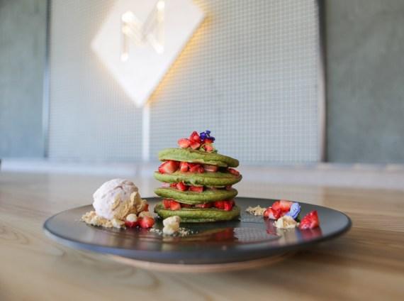 Matcha Pancakes at Matcha Milk Bar
