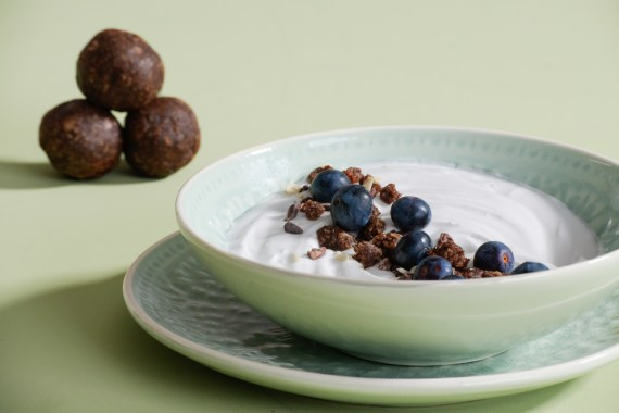 Reishi Cacao Bliss Bites and Coconut Yoghurt