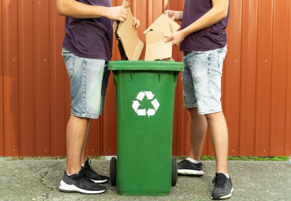 Recycle your cardboard delivery boxes