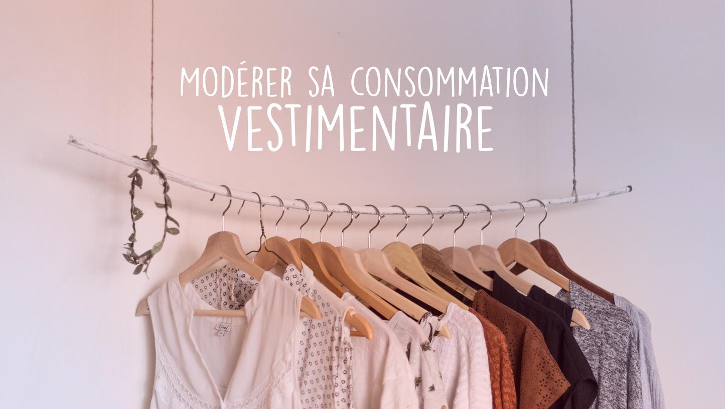 Modérer sa consommation de vêtements
