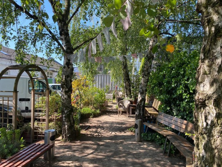 Garten des BTZ Köln