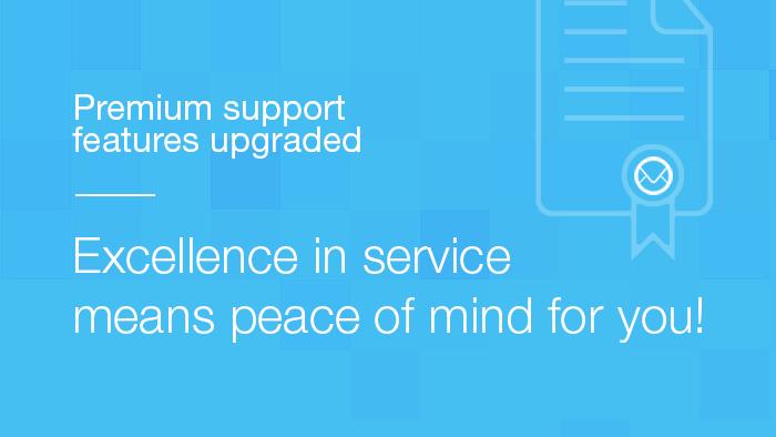 Premium Support Features Upgraded
