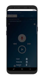 Philips Dictation Recorded Edit, Overwrite Append