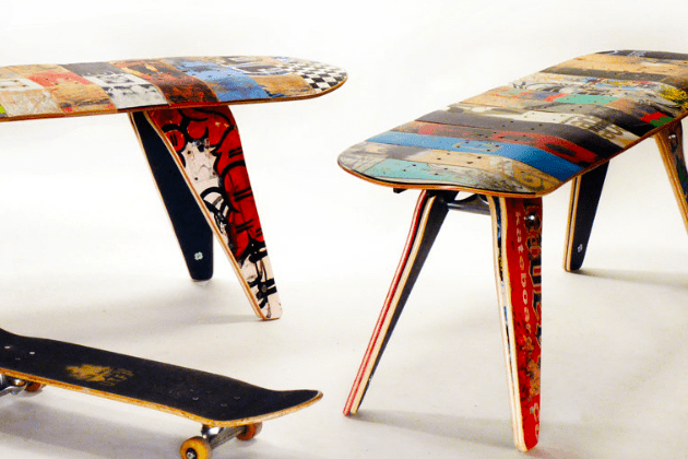 Recycled Skateboard
