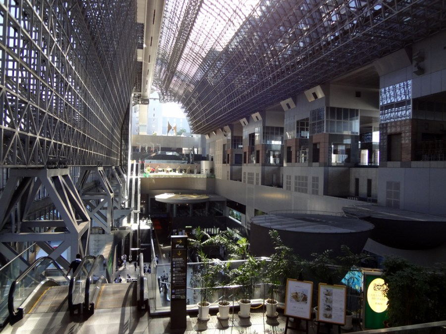 A view of the inside of Kyoto Station