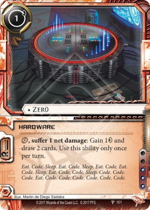 "The Netrunner card ""Zer0"""