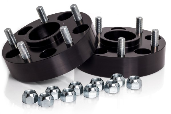 "Spidertrax Jeep 5 on 5"" x 1-1/2"" Thick Black Wheel Spacer Kit"