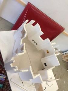 Grundriss der Rochus Kirche, Prag im Modell zur Ausstellung