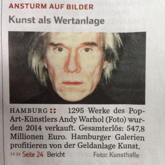 Warhol wieder Spitzenreiter in den Verkäufen!