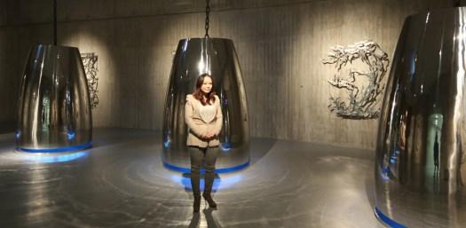 Seo vor der Eröffnung in der Neuen Gladbecker Galerie