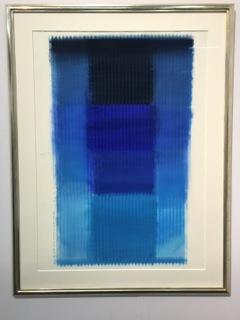 Wunderbare mittelformatige aktuelle Mack-Arbeit bei Galerie Löhr für preiswerte 35' EUR sofort verkauft