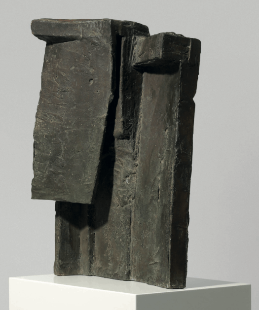 ISA GENZKEN (B. 1948) Steiner incised with the artist's initials and date 'I.G. 1986' (to the back of the sculpture) bronze on artist's painted wooden plinth bronze: 20Æ x 15 x 7Ωin. (52.5 x 38 x 19cm.) plinth: (141 x 42 x 28cm.) Executed in 1986 £120,000-180,000