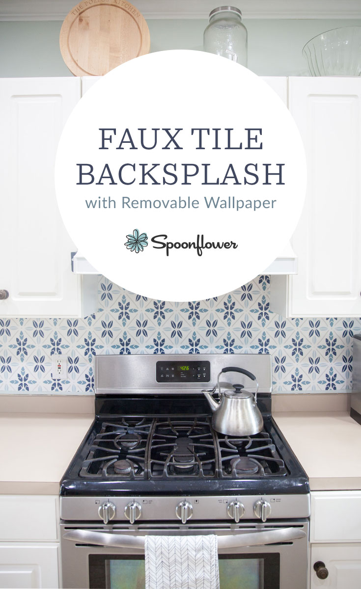 easy faux tile backsplash with eco