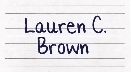Lauren C. Brown font