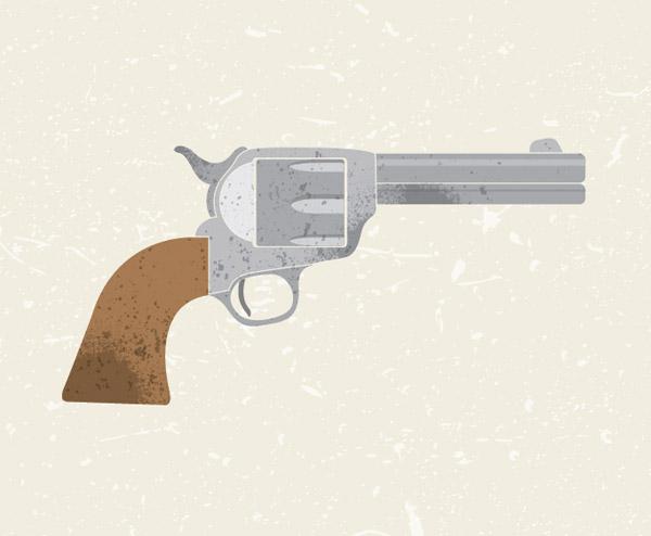Vector revolver illustration