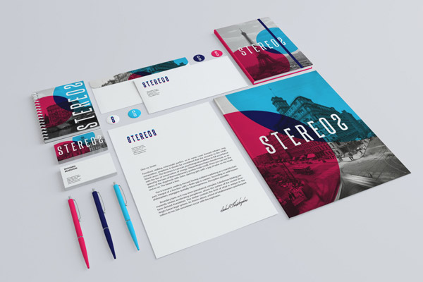 Stereo 2 Branding Mock-up by infostyle.itembridge
