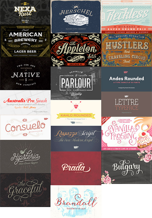 All New Best Selling Fonts