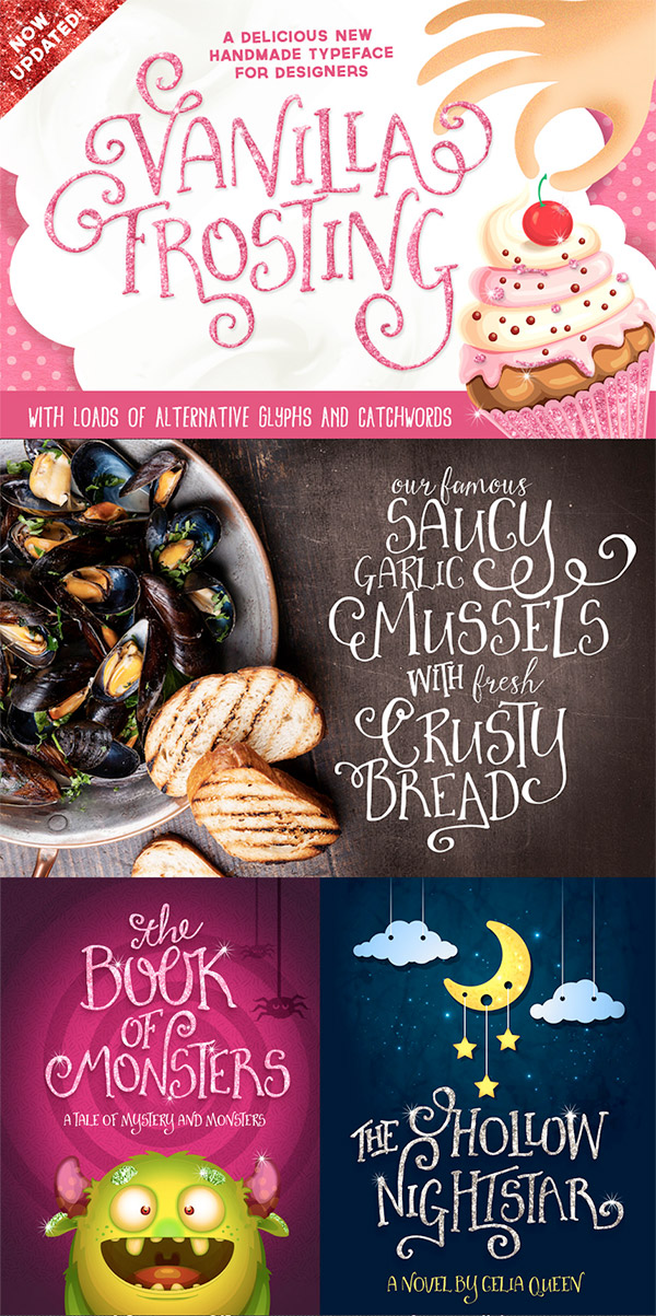 Vanilla Frosting font preview